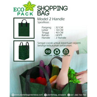 Gambar SHOPPING BAG / KANTONG BELANJA / TOTE BAG / GOODIE BAG DOUBLE BELT